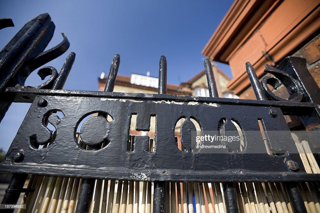 School Gate : Stock Photo