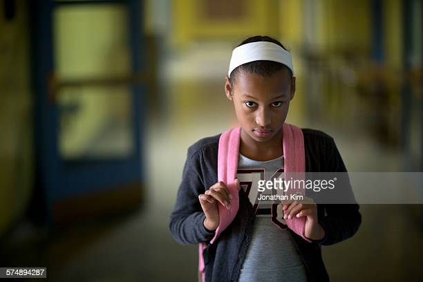 school girl - sad child stock pictures, royalty-free photos & images