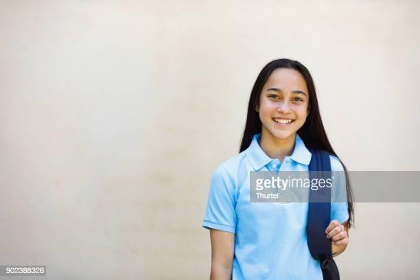 school girl - school uniform stock pictures, royalty-free photos & images