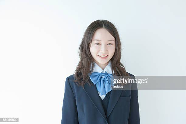 School girl smiling, portrait