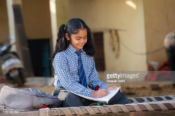 school girl - stock photo - poverty stock pictures, royalty-free photos & images