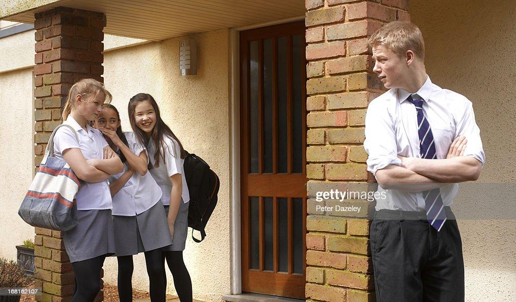 School Girls Bullying School Boy Stock Photo  Getty Images-7301