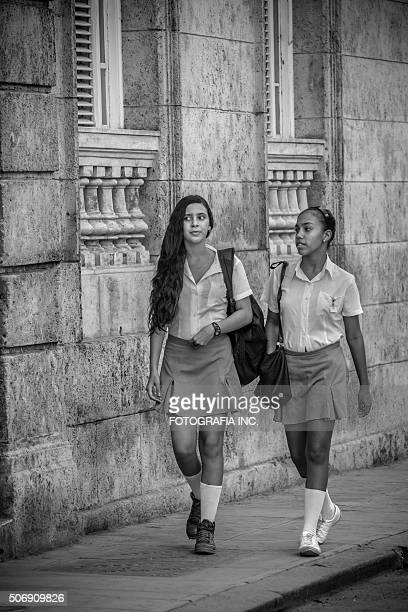 School girls in Old Havana