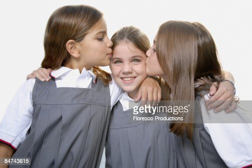 School Girls Kissing Friend Stock Photo  Getty Images-2770