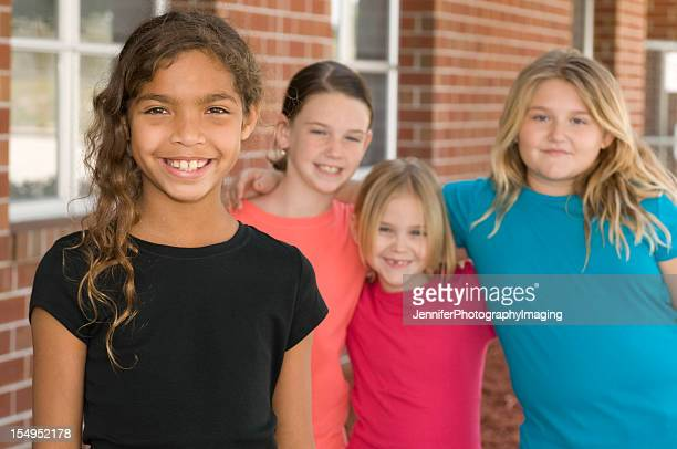 school girls - chubby girl stock photos and pictures