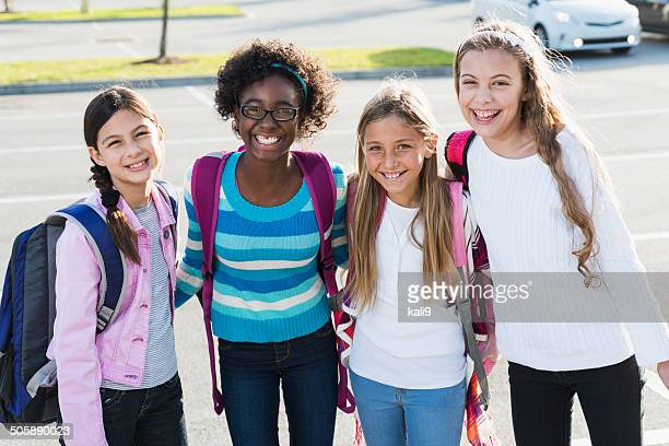 school girls - only girls stock pictures, royalty-free photos & images