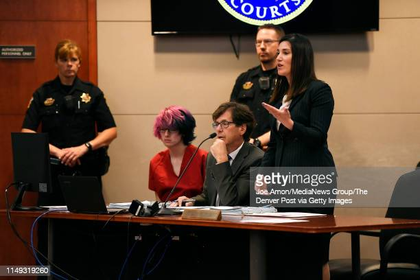 School Highlands Ranch shooting suspect 18 year old Devon Erickson facing 48 criminal charges makes a court appearance at the Douglas County...