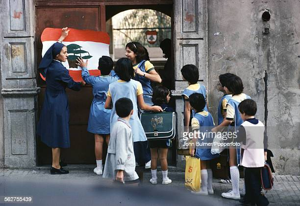 A school in Beirut Lebanon 1979