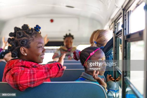 School kids in a bus
