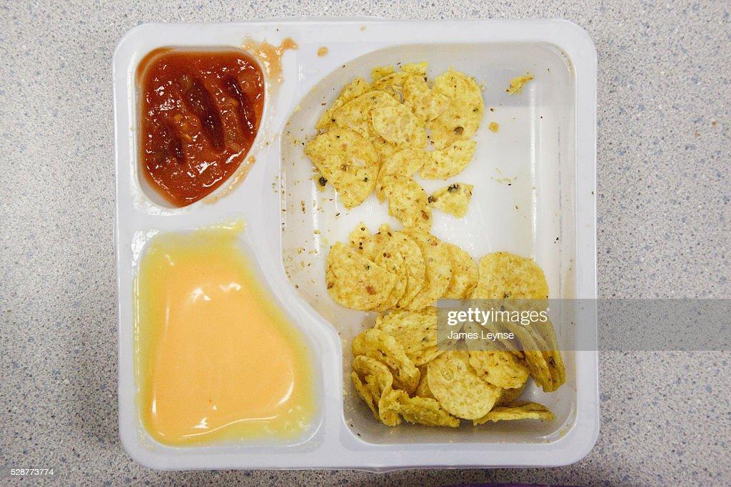 School lunch at a public elementary school in New Jersey