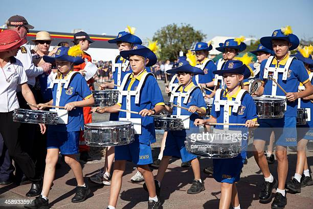 School Marching Band with drums