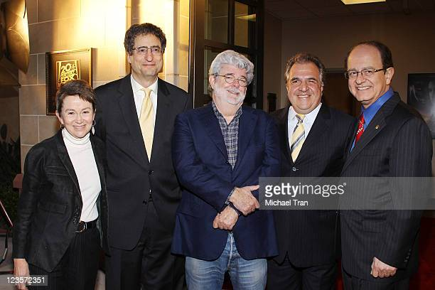 School of Cinematic Arts Dean Elizabeth M Daley Fox Filmed Entertainment Cochairman and CEO Tom Rothman filmmaker George Lucas Fox Filmed...