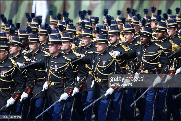 School of Officers of the National Gendarmerie parades during the Military Defile on the occasion of the National Day on July 14 2018 in Paris France...