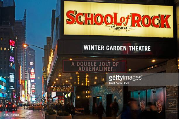 School of Rock Musical on Broadway, NYC.