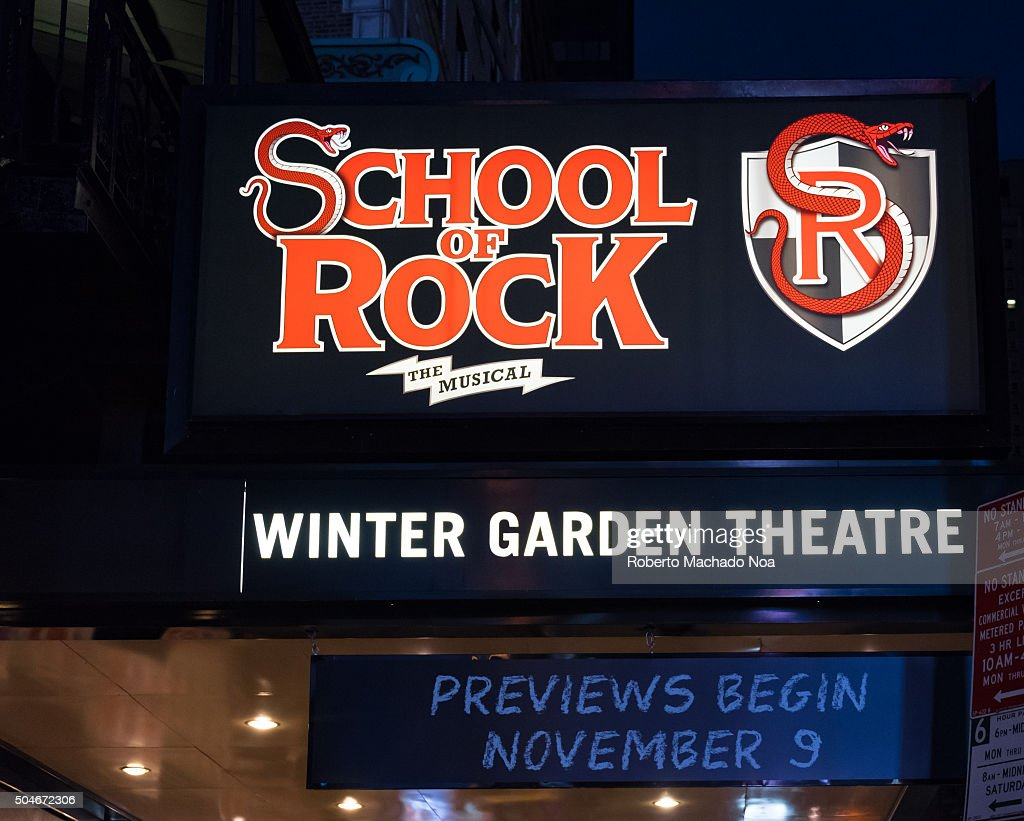 School Of Rock The Musical On Winter Garden Theatre School Of Rock