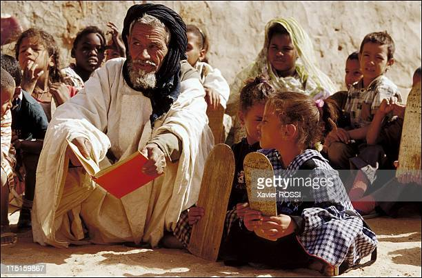 'School of the desert' in Mauritania Development assistance to the schools by GAO agency in December 2001 Mahadra of Tellaba