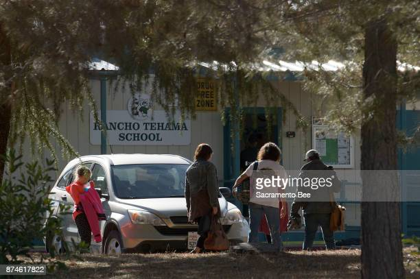 School officials on Rancho Tehama Elementary School campus in Rancho Tehama Reserve in Corning Calif on Tuesday Nov14 2017