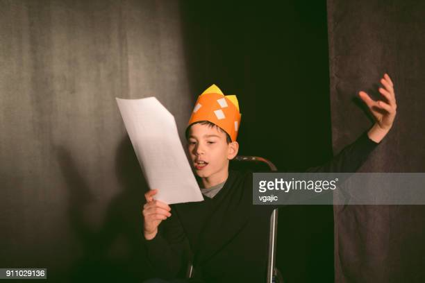 school play rehearsal - acting stock pictures, royalty-free photos & images