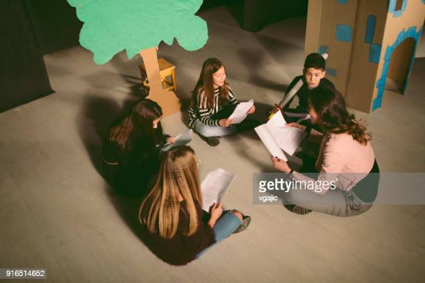 school play rehearsal - childhood stock pictures, royalty-free photos & images