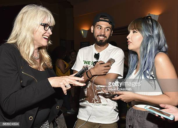 LAUSD School Principal and Pokemon Go in schools supporter Author Dr Mary Reid Gaudio talks with Pokemon Go fans at Pokemon Go Meet Up at The Wiltern...