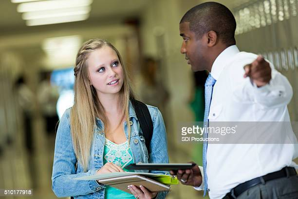 School principal helps student find class