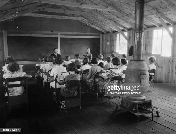 School, Red House, West Virginia, USA, Elmer Johnson, Farm Security Administration, April 1935.