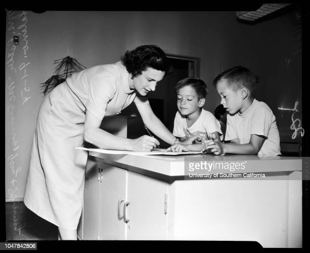 School Registration 1 September 1954 Miss Esther SwainJonathan KolkeyMorley JustmanChristine CooperScott CooperMichael John SefsikJohanne MarioMrs...