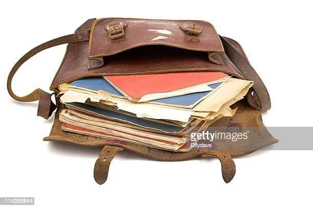 School Satchel Open With Books