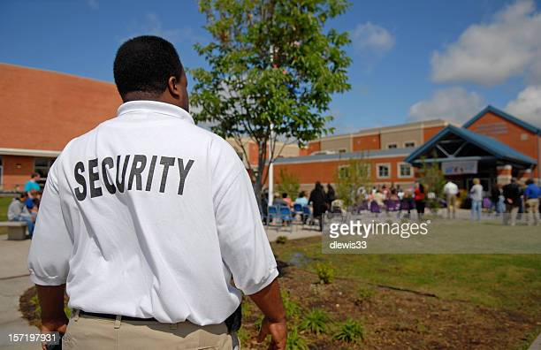 school security guard - school building stock pictures, royalty-free photos & images