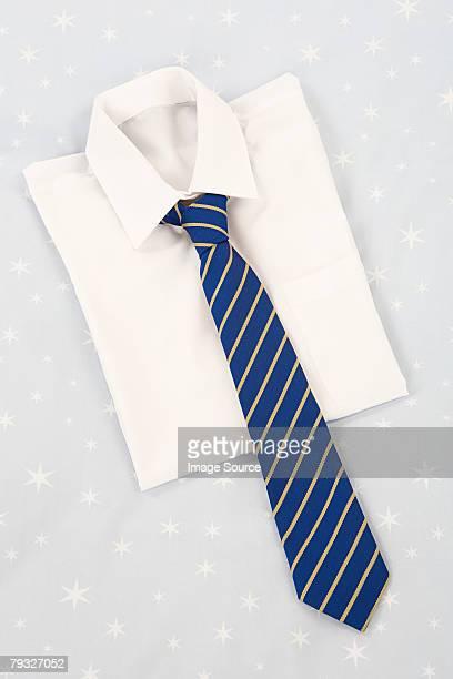 School shirt and tie