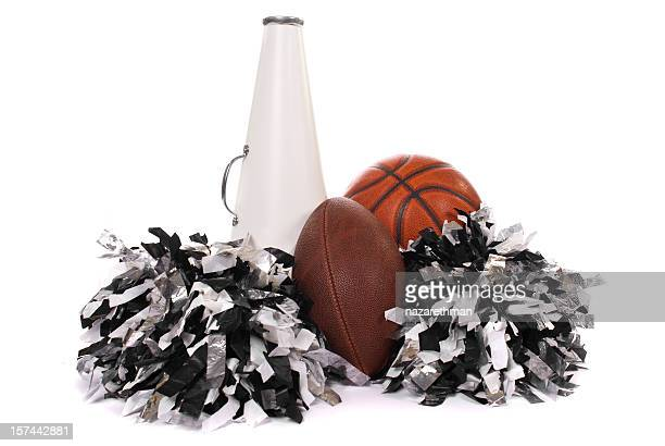 school sports - cheerleaders stock photos and pictures
