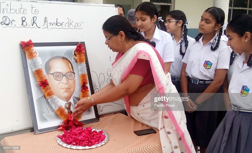School students and teachers tribute to Dr Bhim Rao Ambedkar on his 125th Birth Anniversary at a school at village Dadhera He is popularly known as...
