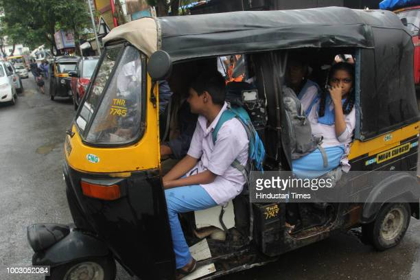 Students wait in the school to get picked up by their guardians as all the transport operators begin their indefinite strike from Thursday midnight...