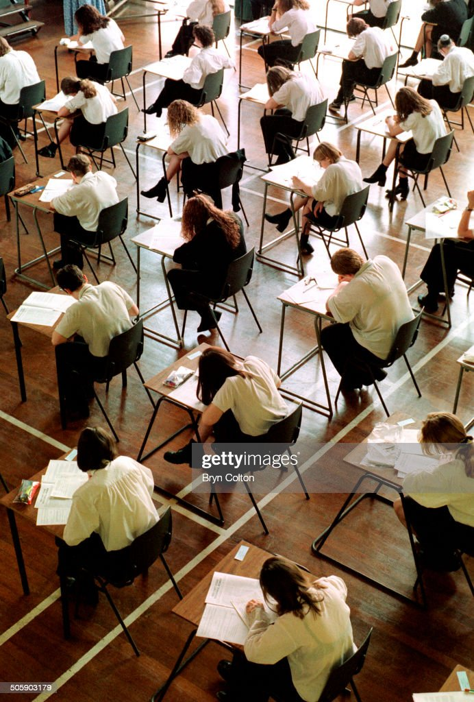 U.K. GCSE Exams : News Photo