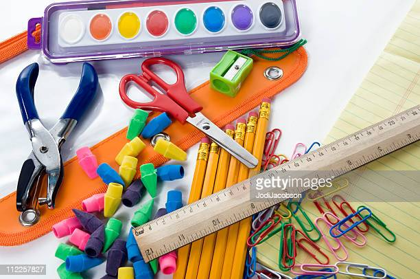 school supplies - pencil case stock pictures, royalty-free photos & images
