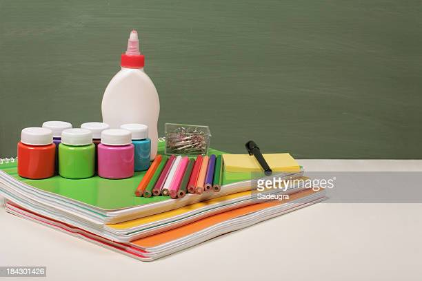 school supplies - tempera painting stock pictures, royalty-free photos & images