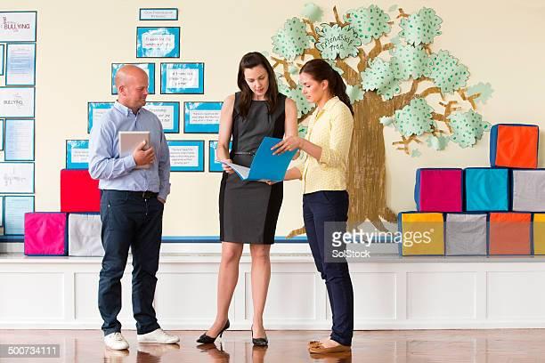 School Teachers Standing