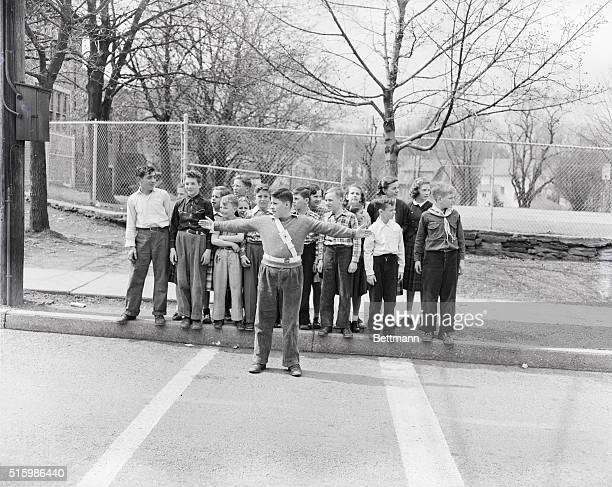 School traffic patrol Myer Schol Cheltenham Pennsylvania Undated photograph BPA