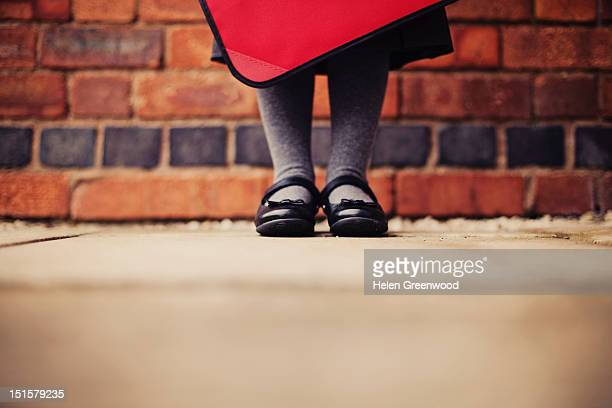 school uniform - school girl shoes stock pictures, royalty-free photos & images