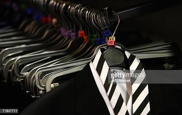 School uniforms on display at Edinburgh based Aitken Niven on September 11 2006 in Edinburgh ScotlandThe retailers of school uniforms have introduced...