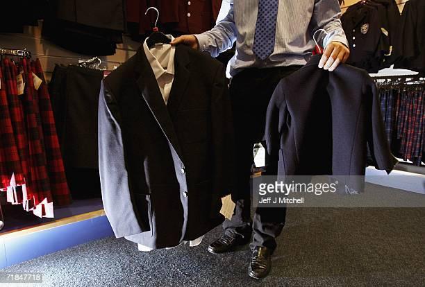 School uniforms on display at Edinburgh based Aitken & Niven on September 11, 2006 in Edinburgh, Scotland.The retailers of school uniforms have...