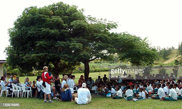 School yard in Mome village