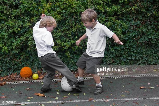 School Yard Soccer Boys