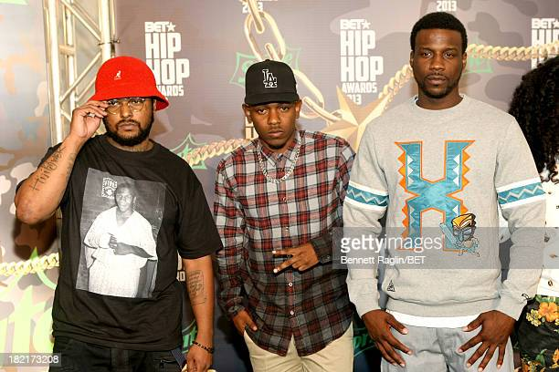 Schoolboy Q Kendrick Lamar Jay Rock and guest attend the BET Hip Hop Awards 2013 at Boisfeuillet Jones Atlanta Civic Center on September 28 2013 in...
