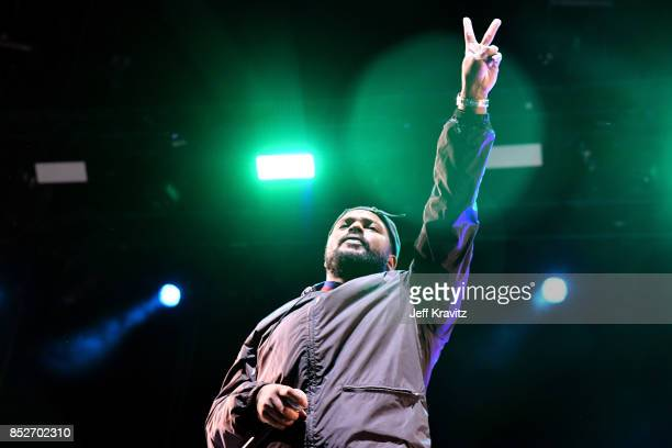 ScHoolboy Q performs on Downtown Stage during day 2 of the 2017 Life Is Beautiful Festival on September 23 2017 in Las Vegas Nevada