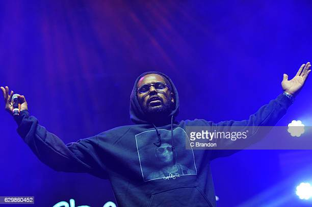 Schoolboy Q performs on stage at the Brixton Academy on December 14 2016 in London United Kingdom