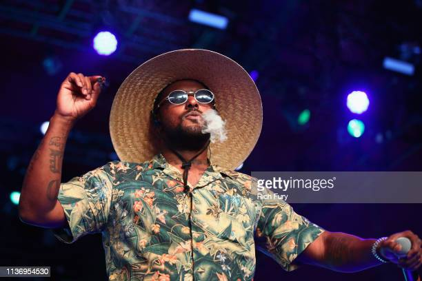ScHoolboy Q performs with Sir at Gobi Tent during the 2019 Coachella Valley Music And Arts Festival on April 13 2019 in Indio California