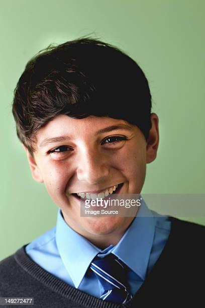 Schoolboy smiling, portrait