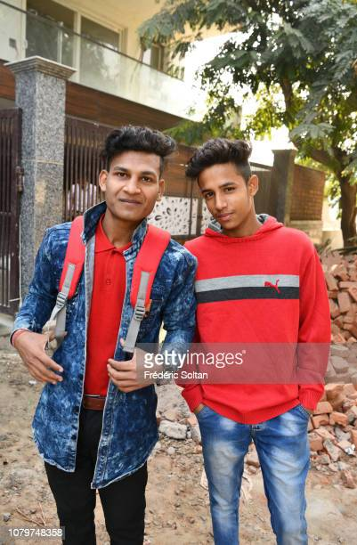Schoolboys in the New City of Guru gram in state of Haryana. Guru gram is a satellite city of New Delhi which has grown quickly over the past 30...