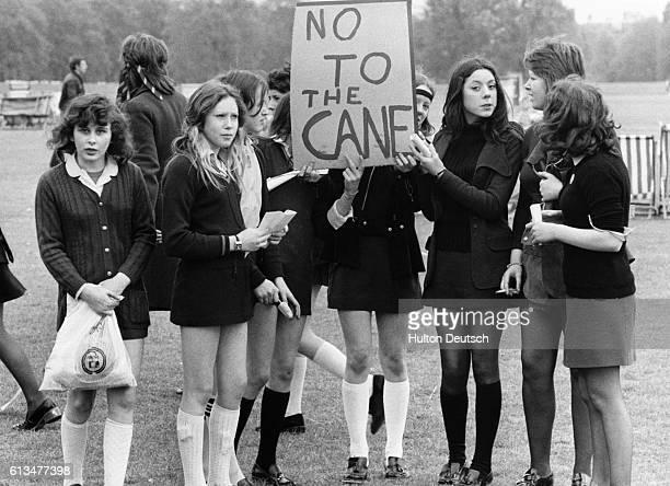 Schoolchildren Demonstrating In Hyde Park